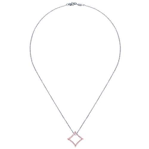 14k White And Rose Gold Lusso Diamond Fashion Necklace angle 2