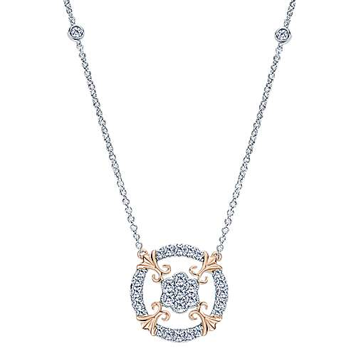 14k White And Rose Gold Lusso Fashion Necklace