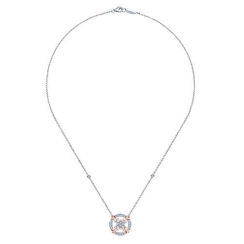 14k White And Rose Gold Lusso Fashion Necklace angle 2