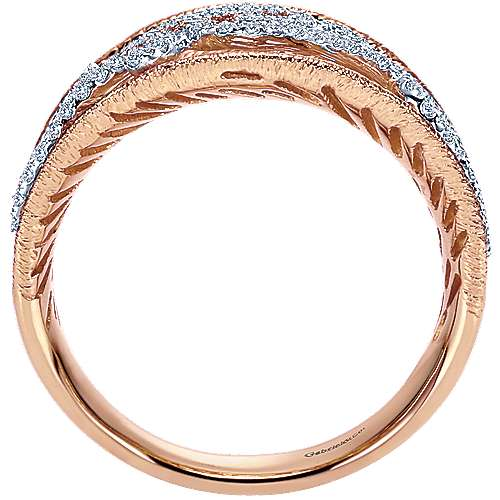 14k White And Rose Gold Nature Fashion Ladies' Ring angle 2