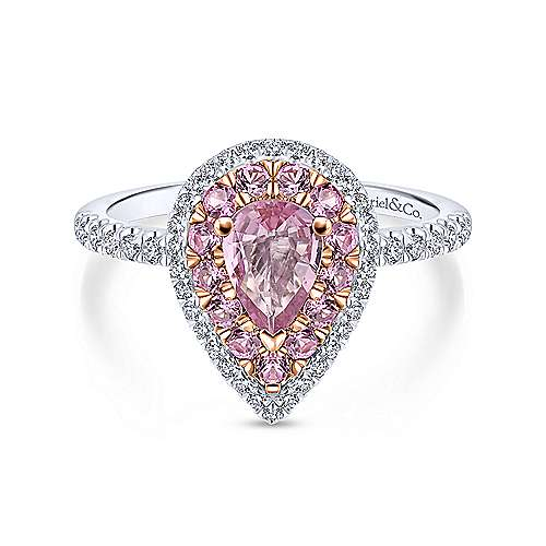 amazon cushion rose morganite pink size dp rings gold cut ring engagement com natural diamond halo