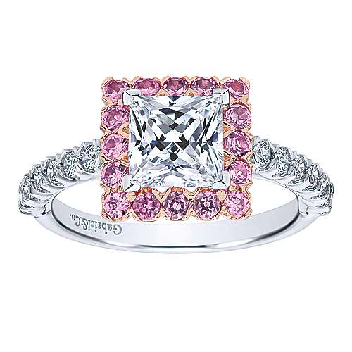 ring rings gabriel pink diamond white engagement tone double gold halo two