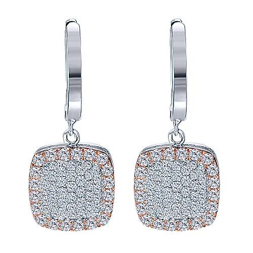 Gabriel - 14k White And Rose Gold Silk Drop Earrings