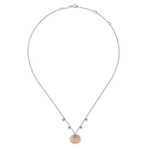 14k White And Rose Gold Souviens Fashion Necklace angle 2