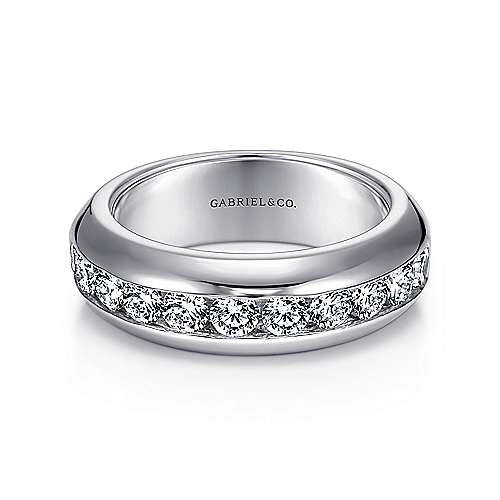 Gabriel - 14k White Gold 11 Stone Channel Set Band