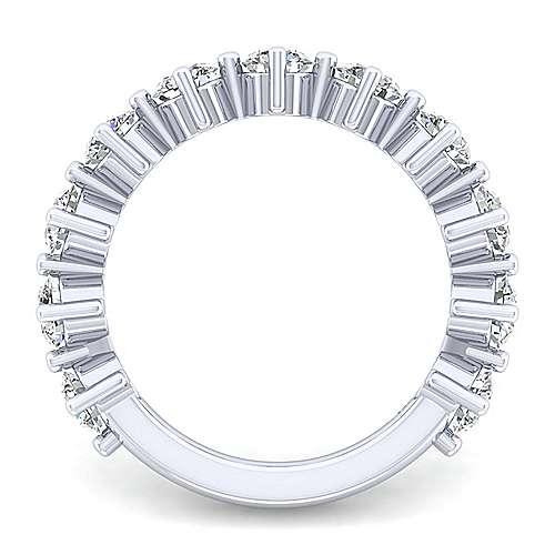 14k White Gold 11 Stone Shared Prong Band