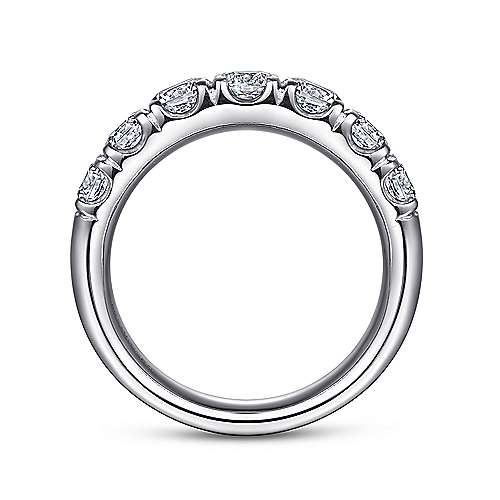 14k White Gold 7 Stone French Pavé Set Band