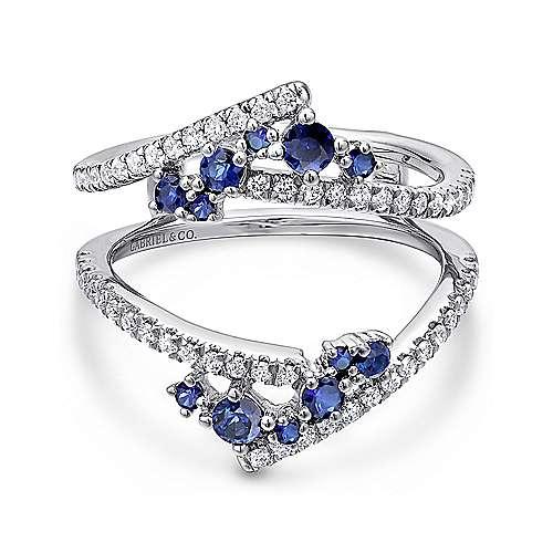 14k White Gold A Quality Sapphire and Diamond Enhancer