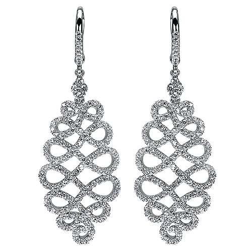 Gabriel - 14k White Gold Allure Drop Earrings