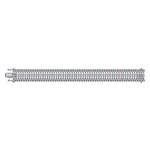 14k White Gold Allure Tennis Bracelet angle 3