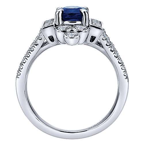 14k White Gold Art Moderne Classic Ladies' Ring angle 2