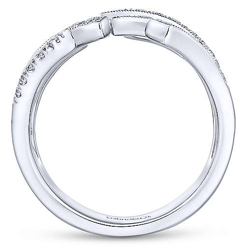 14k White Gold Art Moderne Fashion Ladies' Ring angle 2
