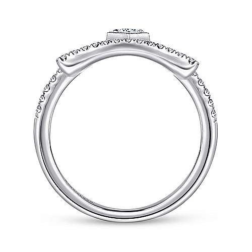 14k White Gold Art Moderne Fashion Ladies' Ring angle 2