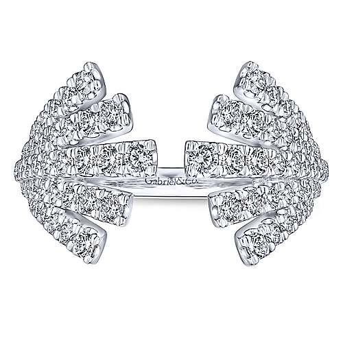 14k White Gold Art Moderne Fashion Ladies' Ring angle 4