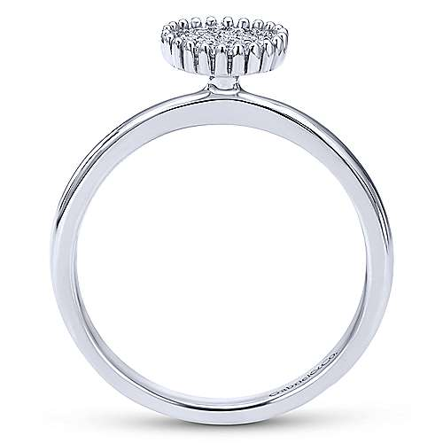 14k White Gold Bombay Fashion Ladies