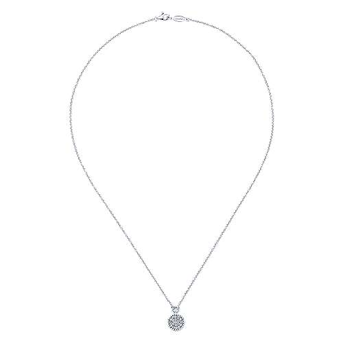 14k White Gold Bombay Fashion Necklace angle 2
