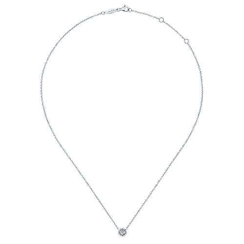14k White Gold Bombay Fashion Necklace angle 2