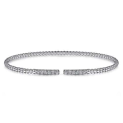 Gabriel - 14k White Gold Bujukan Bangle