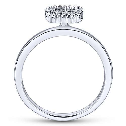 14k White Gold Bujukan Fashion Ladies' Ring angle 2