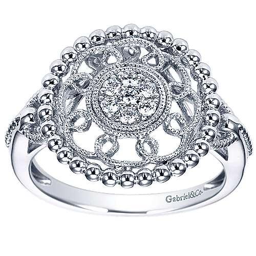 14k White Gold Bujukan Fashion Ladies' Ring angle 4