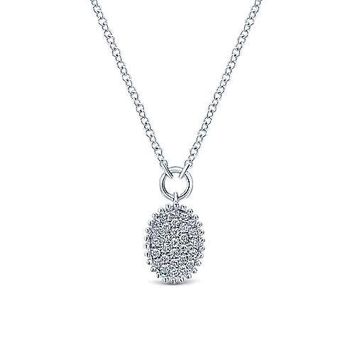 14k White Gold Bujukan Fashion Necklace angle 1
