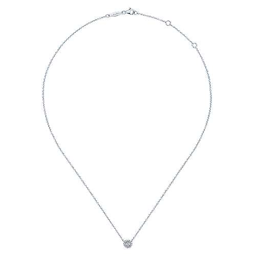 14k White Gold Bujukan Fashion Necklace angle 2
