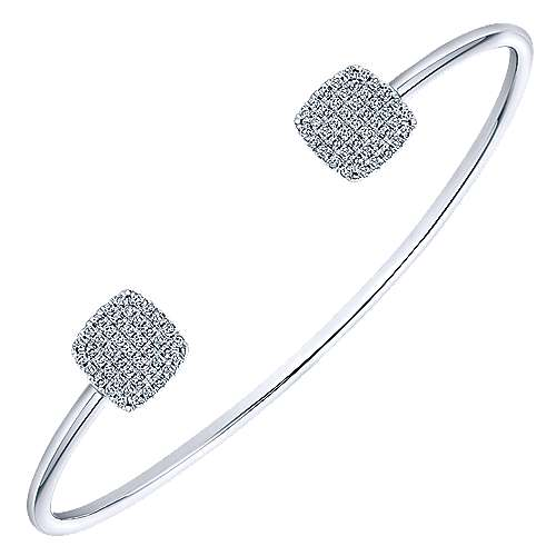 14k White Gold Byblos Bangle