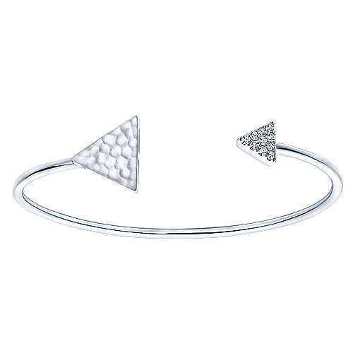 14k White Gold Byblos Bangle angle 1