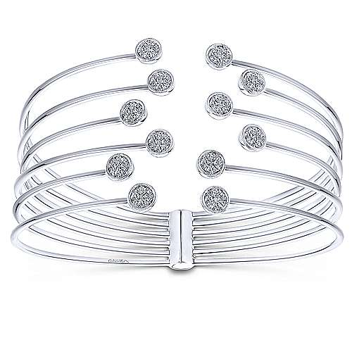 Gabriel - 14k White Gold Byblos Bangle