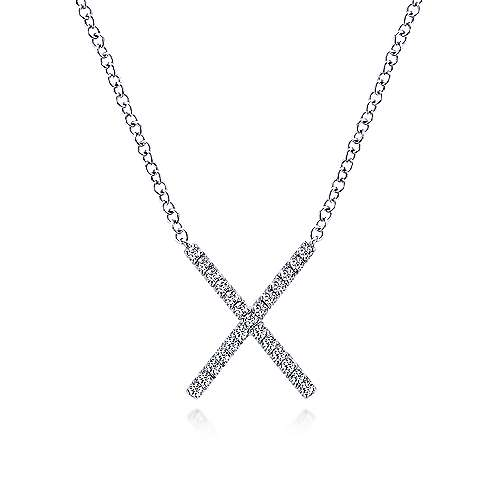 14k White Gold Care Collection Fashion Necklace