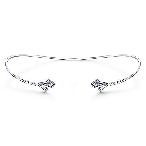 14k White Gold Cascade Choker Diamond Choker Necklace angle 3
