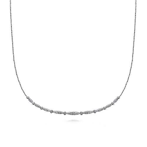 Gabriel - 14k White Gold Cascade Choker Diamond Choker Necklace