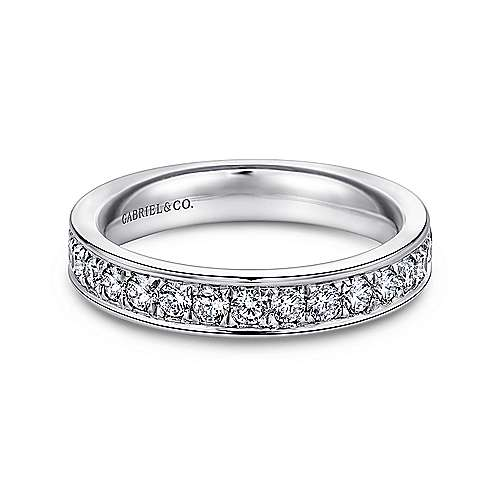 Gabriel - 14k White Gold Channel Prong Set Eternity Band