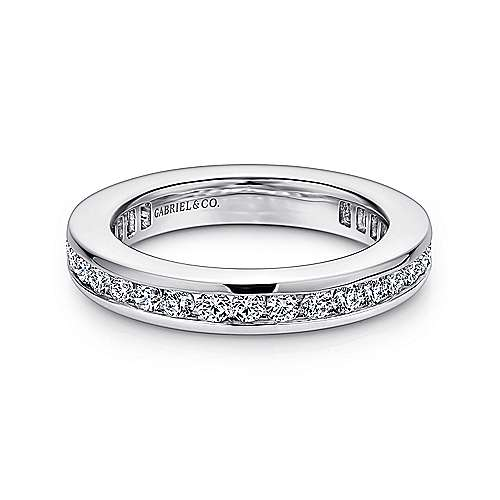 Gabriel - 14k White Gold Channel Set Eternity Band