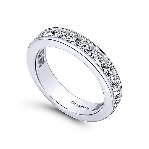 14k White Gold Channel Set Eternity Band