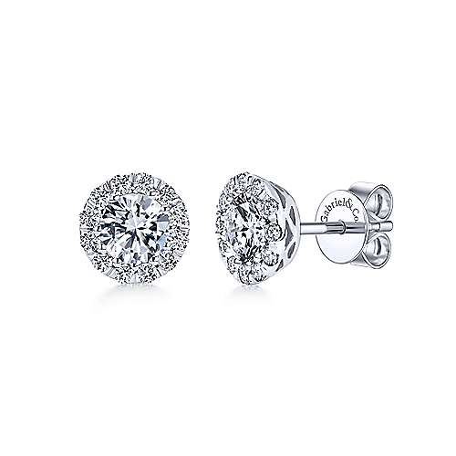 14k White Gold  Stud