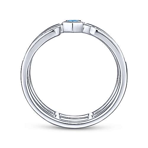 14k White Gold Constellations Fashion Ladies' Ring angle 2