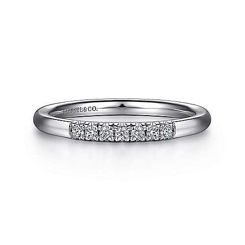Gabriel - 14k White Gold Contemporary Anniversary Band