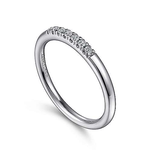 14k White Gold Contemporary Anniversary Band