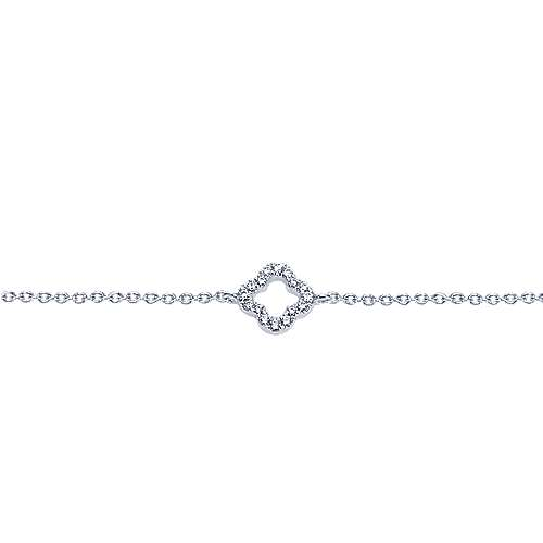 14k White Gold Contemporary Chain Bracelet angle 2