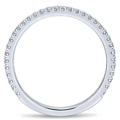 14k White Gold Contemporary Curved Wedding Band