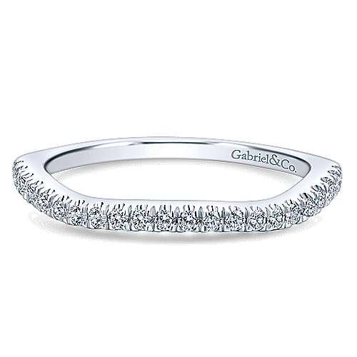 14k White Gold  Curved