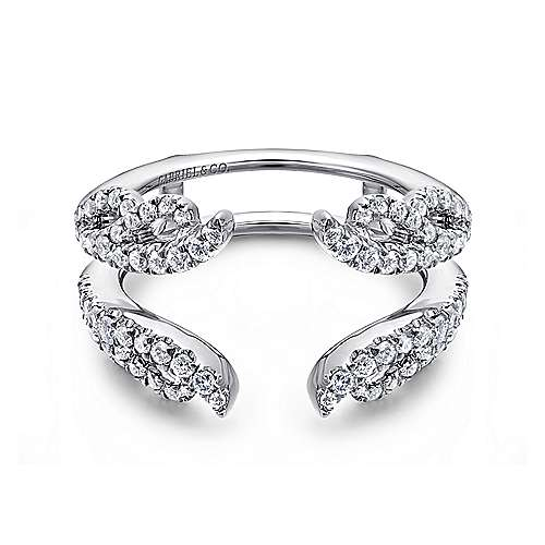 14k White Gold Contemporary Enhancer Anniversary Band