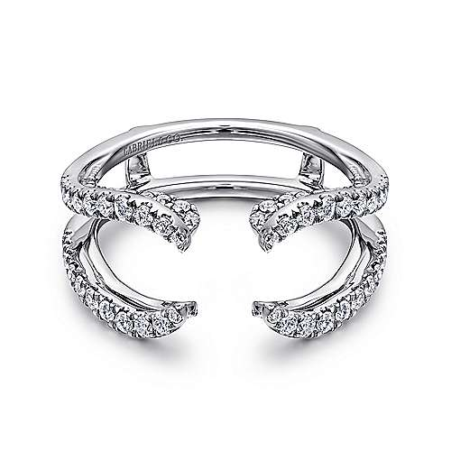 Gabriel - 14k White Gold Contemporary Enhancer Anniversary Band