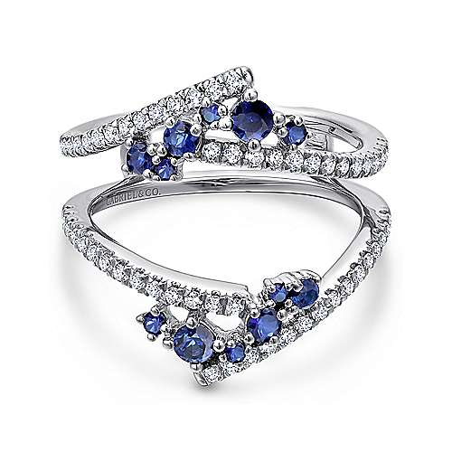blue ring bands sapphire and gold new white anniversary band diamond