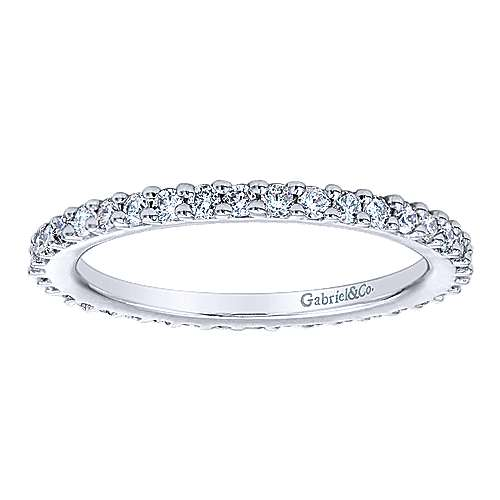 14k White Gold Contemporary Eternity Anniversary Band angle 4