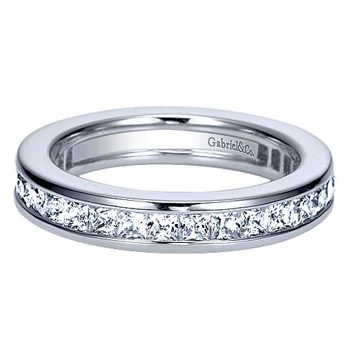 14k White Gold Princess Cut Eternity