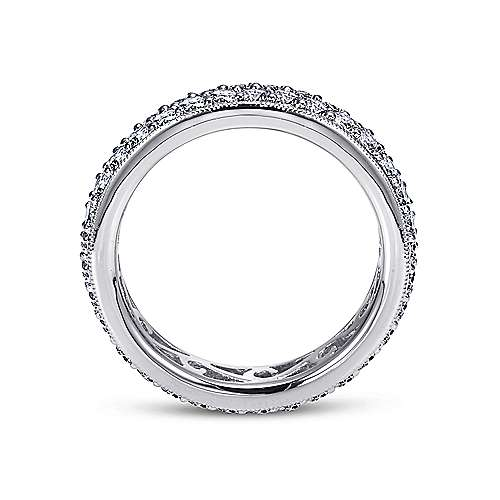 14k White Gold Contemporary Eternity Anniversary Band angle 2