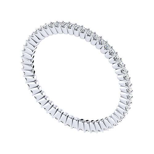 14k White Gold Contemporary Eternity Band Anniversary Band angle 6