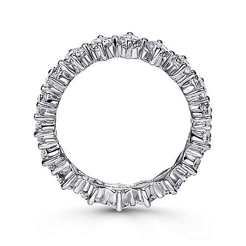14k White Gold Contemporary Eternity Band Anniversary Band angle 2